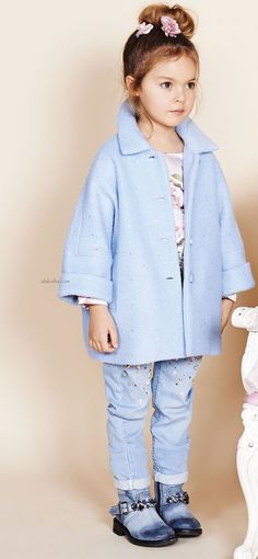 """Marvelous landscapes and pop-up roses enhance the """"fantastic"""" Monnalisa Fashion 2017, Kids Fashion, Young Fashion, Trendy Kids, Buy Buy Baby, Baby Winter, Baby Design, Girls Wear, Pop Up"""