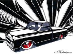69 C-10 Sharpie Art- Prints available here:  http://www.PinstripeChris.com/Store