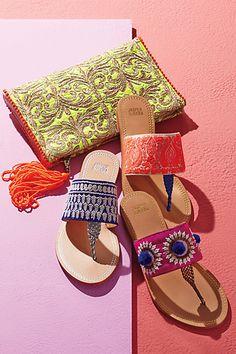 Needlework Sandals #anthrofave