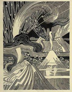Volcanoes Te Tohunga – Wilhelm Dittmer 1907