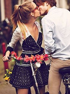 Photographer Guy Aroch captures girls on bikes in Amsterdam for Free People's first catalog of the New Year. Free People's January 2013 catalog themed…