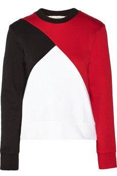 Etre Cecile Color-block cotton-jersey sweatshirt   THE OUTNET