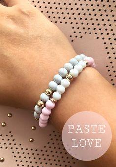 Pastel pink Grecy bracelet summer