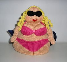 "Knitted Tea Pot Cozy ~ ""Couldn't resist!"""