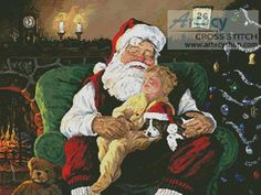 Santa with Child Cross Stitch Pattern http://www.artecyshop.com/index.php?main_page=product_info&cPath=74_80&products_id=282