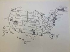 When all else fails, draw pretty pictures. | It's Thanksgiving So We Asked Brits To Label The United States — We're So Sorry, America