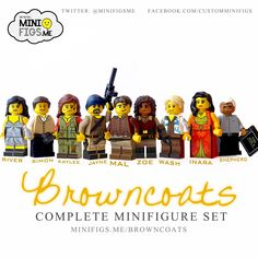 """Inspired by the cult sci-fi series """"Firefly"""", these minifigs have been created with the attention to detail only an embarrassingly big fan of the show could muster. All these custom printed LEGO minifigures have been created with the utmost care, ready for you to build Serenity and film thenewFirefly series we've all been waiting for....  Individual minifigs can be bought here!"""