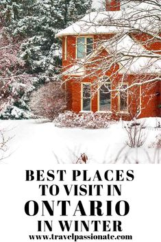 Planning a visit to Ontario, Canada in winter and looking for things to do? In this post find the best places to visit in Ontario in winter Cool Places To Visit, Places To Travel, Travel Destinations, Quebec, Vancouver, Toronto, Ontario Travel, Ontario Camping, Canadian Travel