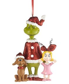 Department 56 Christmas Ornament, Grinch Village Grinch, Cindy & Max - Christmas Villages - Holiday Lane - Macy's