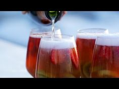 Sparkling Strawberry-Kiwi Sangria - YouTube