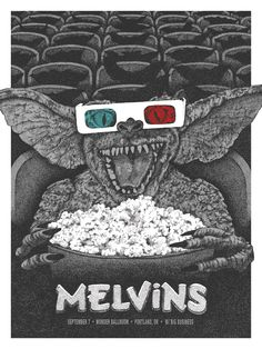 Anonymous Ink and Idea Melvins Portland Poster