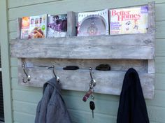 PALLET SHELF COAT SHELF http://www.etsy.com/listing/150343660/pallet-shelf-coat-rack