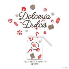 Nuovo logo disegnato da me: un'esplosione di dolcezza per una dolcissima dolcetteria