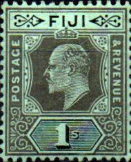 Postage Stamps Fiji 1906 King Edward VII SG 119 Mint Scott 72 Other Fiji Stamps HERE