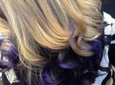 Close up violet hue tones