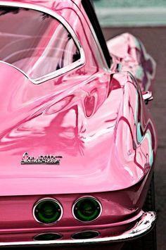 Vintage Metallic Pink Corvette