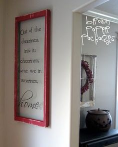 Love this, but I put BRIGHT tissue paper behind the glass, and write different things depending on the time of year or my mood