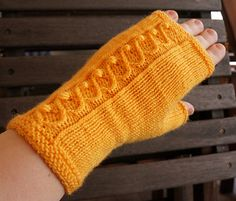 Cabled mitts The free 'Kujeillen' pattern by Tiina Kuu is a fantastic project for using up half-skeins of semi solid yarns. The simple cable and nupp pattern adds understated interest to the item. ...