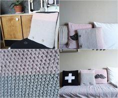 czas oscrapowany: poduszka hand made, pilow