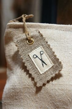 Handmade tags using icons
