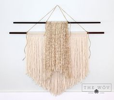 Handmade Two Tier Macrame Wall Hanging  Tan and Cream by TheWov