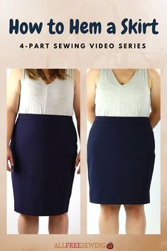 Learn how to hem a skirt with a sewing machine!
