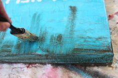sincerest form of flattery guest tutorial- ballard designs inspired beach art lil blue boo | kojodesigns