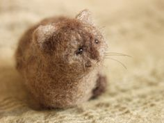 miniature needle-felted cat