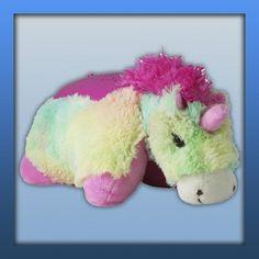 Dream Lites UK Rainbow Unicorn From Pillow Pets® Buy Pillows, Animal Pillows, Rainbow Unicorn, Christmas Presents, Little Ones, Dinosaur Stuffed Animal, Make It Yourself, Pillow Pets, Toys