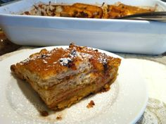 #GlutenFree Baked Pumpkin Chocolate Chip French Toast