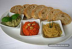 Kruh s amarantom i  - namaz od tikvice  - namaz od pečene paprike i oraha  - namaz od slanutka