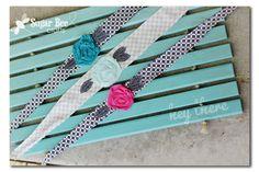 Sugar Bee Crafts: Fabric Flower Headband Wrap
