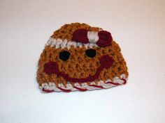 Gingerbread Girl Hat Cuddle Soft Newborn to 3 months by DesignsbyDecember, $15.00