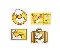 This Gudetama sticker set will keep you company on all your travels. Put these stickers on any of your travel items and it will brighten up your day!