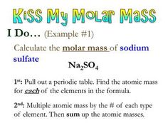 Kiss My Molar Mass! :) Short and concise scaffolded notes along with a student note sheet structured to assist students in understanding how to calculate Molar Mass. Teaching Chemistry, Chemistry Lessons, Science Chemistry, Teaching Time, Teaching Methods, Physical Science, Science Education, Teaching Resources, Teaching Ideas