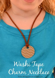 Washi tape charm necklaces - Washi Tape Crafts