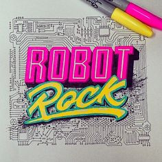 Front view. #robotrock #inspiration #daftpunk #goodtype #goodart #graphicdesign…