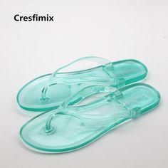 Women's Cute Transparent Jelly Flip Flops * SZ 5.5-8 / 10 Different Sandal Colors