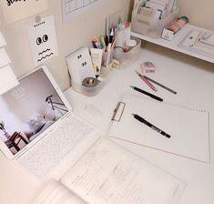 62 Best Ideas For Bedroom Desk Ideas Student Schools Study Room Decor, Study Rooms, Study Areas, Study Desk, Study Space, Desk Space, Planning School, Study Corner, Studyblr