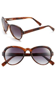 Women's Derek Lam 'Logan' 52mm Sunglasses - Brown Stripes