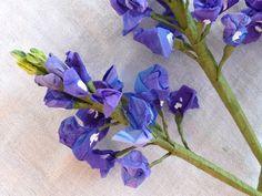 Items similar to Crepe Paper Lupines (Bluebonnets) on Etsy Large Paper Flowers, Crepe Paper Flowers, Paper Flower Backdrop, Fake Flowers, Diy Flowers, Fabric Flowers, Wedding Flowers, Crepe Paper Crafts, Diy Paper