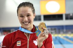 July 14 - Swimming - Women's - 100m Freestyle.  Canada's Chantal Van Landeghem wins the 100 metre freestyle gold on the the first day of the swimming final at the Toronto 2015 Pan Am games at CIBC Aquatic Centre/Field House in Toronto. July 14, 2015.