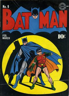 Iconic Batman cover by Jack Burnley.