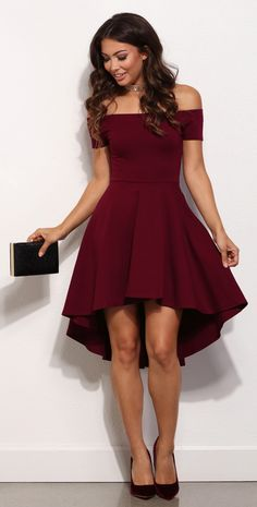 Off the shoulder dresses are all the rage this season!