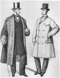 3er período, tapados de hombre pesados y triangulares, pantalones cuadrillé