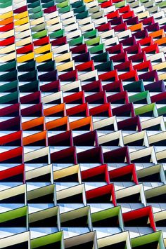 Origami - Colorful Architecture Pattern - Photography by Jared Lim Colour Architecture, Urban Architecture, Amazing Architecture, Architecture Details, Installation Architecture, Architecture Visualization, Minimalist Architecture, Classical Architecture, Architectural Pattern