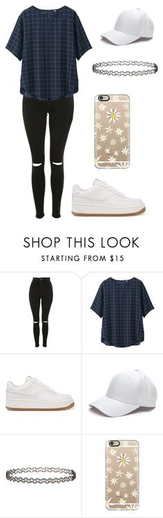 """""""Outfit"""" by andreeadeeix12 ❤ liked on Polyvore featuring Topshop, Uniqlo, NIKE, Miss Selfridge and Casetify"""