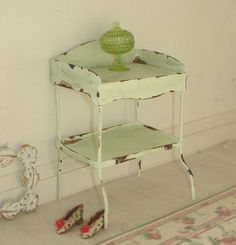 "shabby ""tin"" washstand 50mm wide"