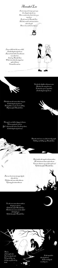 Annabel Lee - Edgar Allan Poe, a poem illustrated by Greg Hinkle Illustration Courses, Story Poems, Annabel Lee, Forever Book, Edgar Allen Poe, More Than Love, Book Nerd, Writing Prompts, Beautiful Words