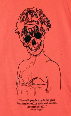 Twin Peaks Laura Palmer Skeleton T-Shirt Design (Made to Order)